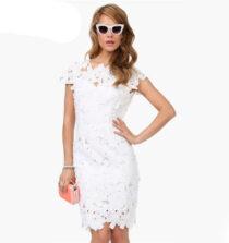 Model Baju Dress Pendek Untuk Pesta Warna Putih Terang